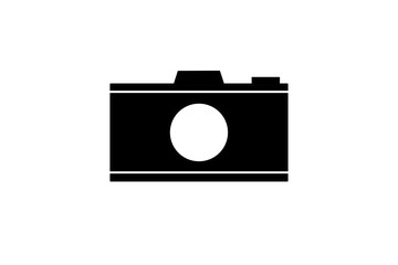 Camera icon symbol isolated on white background