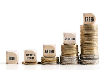 Ungleichgewicht zwischen verschiedenen Anlageformen und Erbschaft