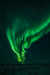 The northern lights in Russia