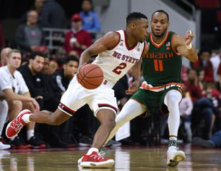 NCAA Basketball: Miami at North Carolina State