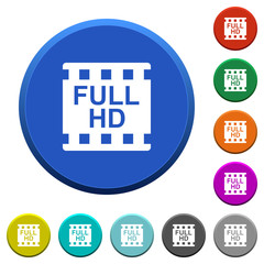 Full HD movie format beveled buttons
