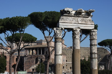 One of the most famous landmarks in the world - Roman Forum in Rome, Italy.