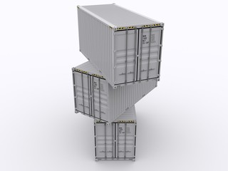 Shipping Container stacked
