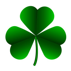 Isolated patrick day clover