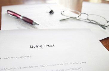 Living Trust document