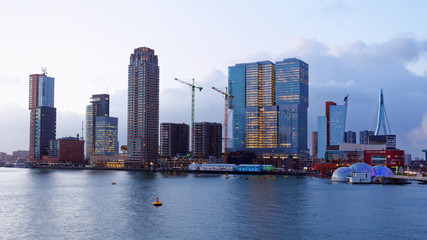 Cityscape of Rotterdam, Netherlands