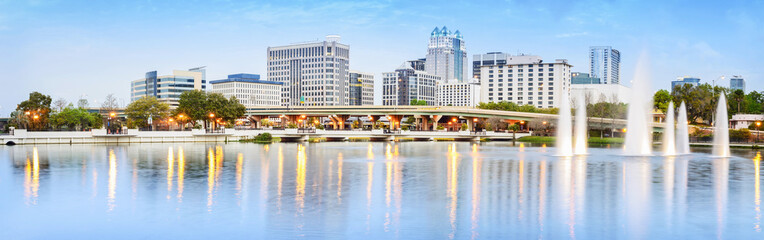 Downtown Orlando Skyline. Located in Orlando, Florida, USA. Wall mural