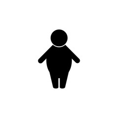 Silhouette of a fat man icon. Elements of obesity problems icon. Premium quality graphic design icon. Simple icon for websites, web design, mobile app, info graphics