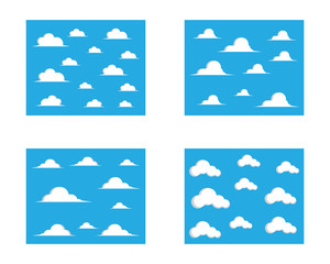 Cloud vector icon illustration design