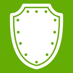 Army protective shield icon green