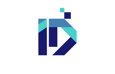 ID Digital Ribbon Letter Logo