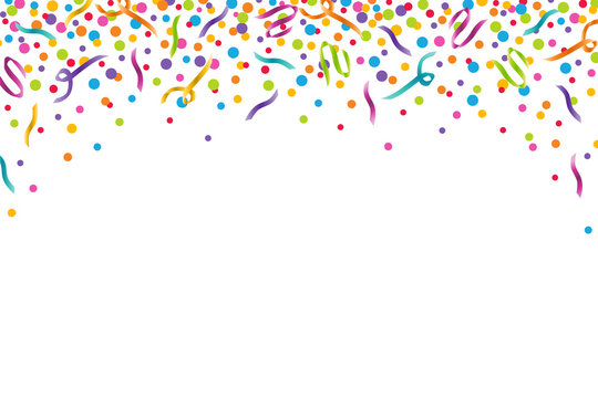 Colorful Confetti Celebration Horizontal Vector Illustration 1