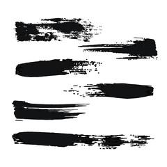 Ink Brush Strokes. Vector illustration