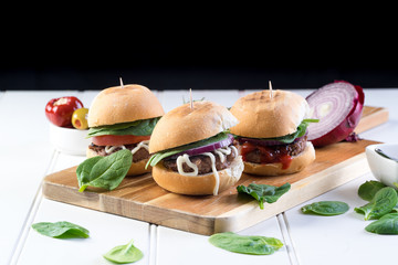 small burger sliders for share mayo onion board sharing platter party food
