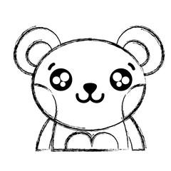 figure happy bear adorable wild animal
