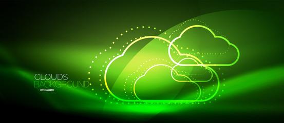 Vector cloud computing, storage concept Wall mural