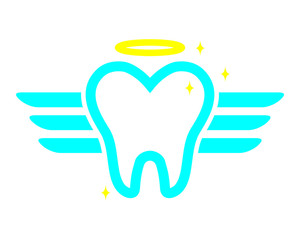 angel tooth teeth dent dental dentist image icon