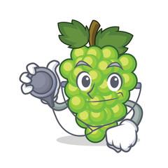 Doctor green grapes character cartoon