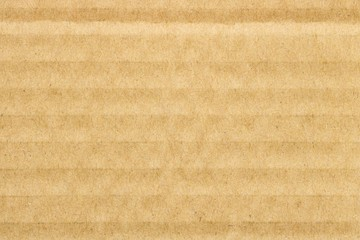 Brown cardboard texture background, horizontal stripes
