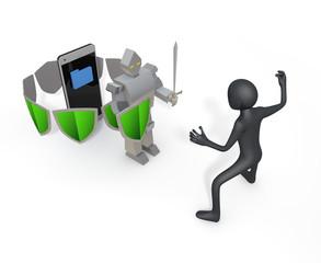 Smartphone / data / security / virus