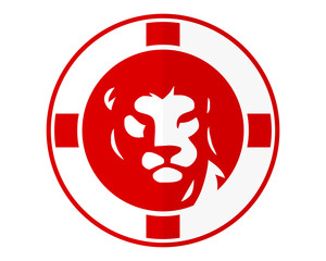 red england lion leo head face image vector icon logo