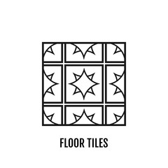 Floor tiles. Flat icon object. Vector