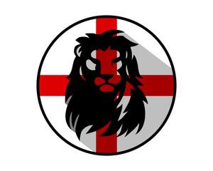 circle england lion leo head face image vector icon logo