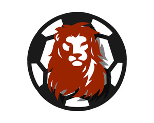 football soccer lion leo head image vector icon logo