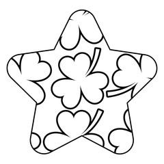 pattern shape label st patrick day clover vector illustration