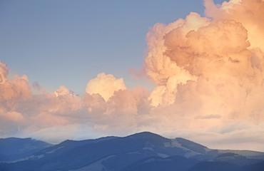 Aluminium Prints Mountains Smoky mountains ridge panoramic view