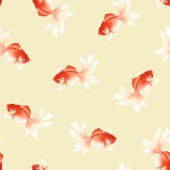 日本画 金魚
