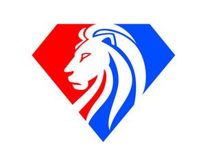 diamond gems leo lion image vector icon silhouette