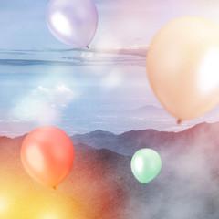Celebration, Birthday Party - Balloons outside