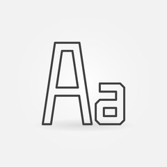Font vector minimal icon in thin line style