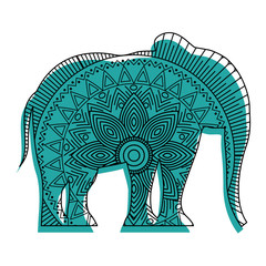 hand drawn for adult coloring pages with elephant zentangle vector illustration