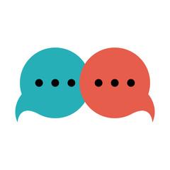 Chat bubbles symbol icon vector illustration graphic design
