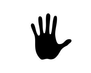 Black Five Fingers Hands Illustration Silhouette Logo Symbol Vector