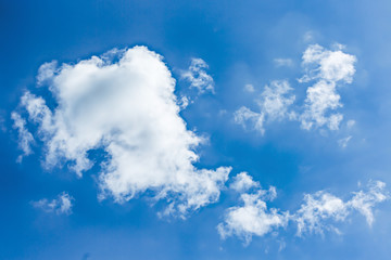 beautiful blue sky and white clouds background wallpaper