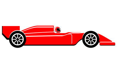 Formula one car side view vector image