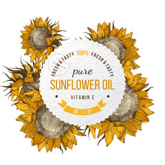 Sunflower oil emblem