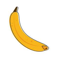 Banana sweet fruits icon vector illustration graphic design