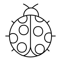 ladybug insect small icon animal vector illustration outline image