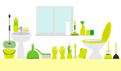 Cleaning flat background