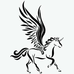 Beautiful unicorn, grace in motion