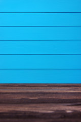 Background blue planks