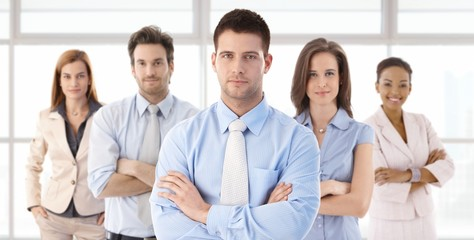 Businessman and business team
