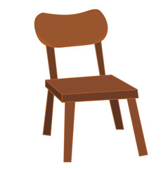 brown chair  isolated