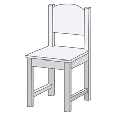 isolated  white chair