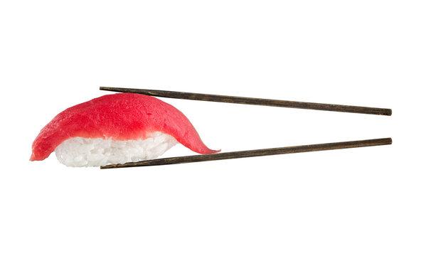 Nigiri sushi with tuna