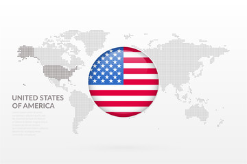 Vector world map infographic symbol united states of america flag category gumiabroncs Images